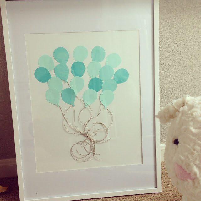 DIY Nursery Artwork: Pretty Balloons
