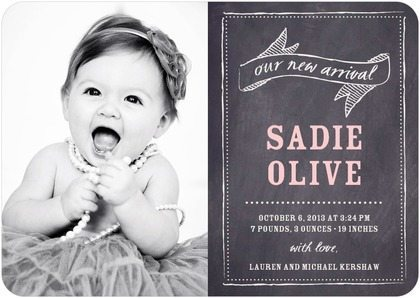 Harpers Birth Announcements Veronikas Blushing – Tiny Prints Birth Announcement
