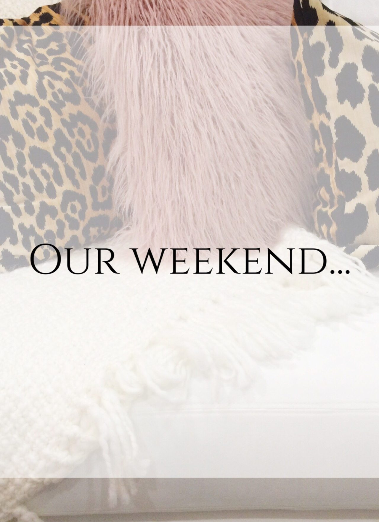 Our Weekend…