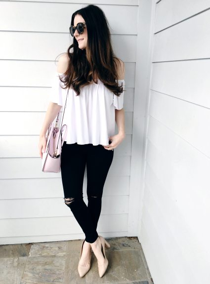 White Off-the-Shoulder Top for $25