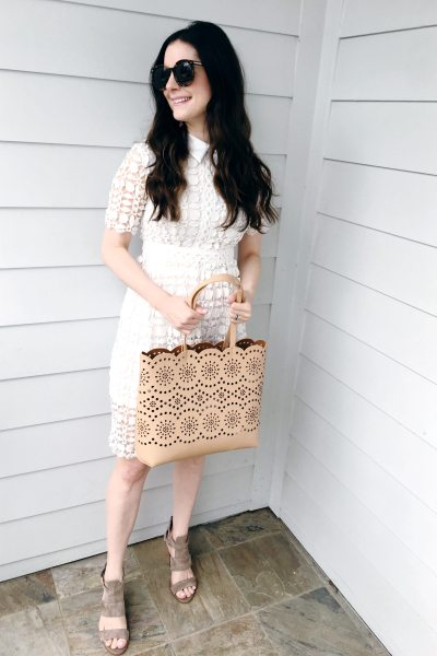 Crochet Lace White Dress