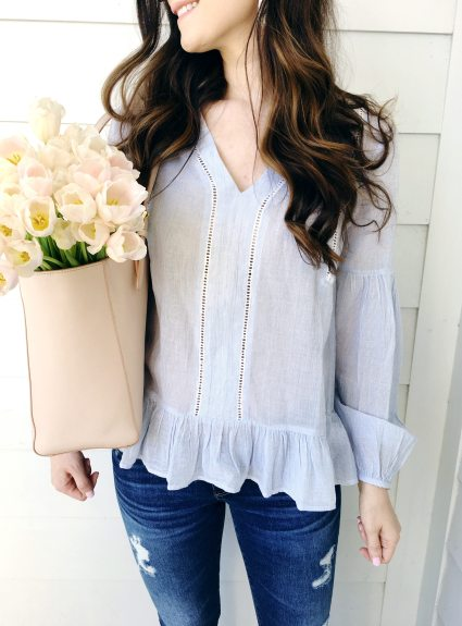Airy Peplum Top