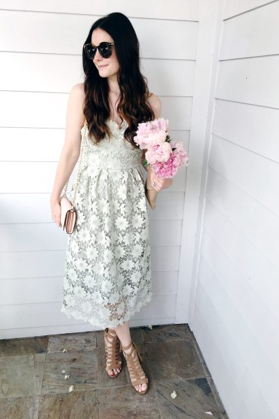 Mint Lace Midi Dress for Under $70