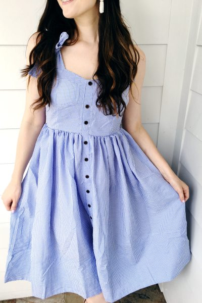Blue Gingham Dress
