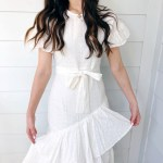 White Eyelet Ruffle Dress