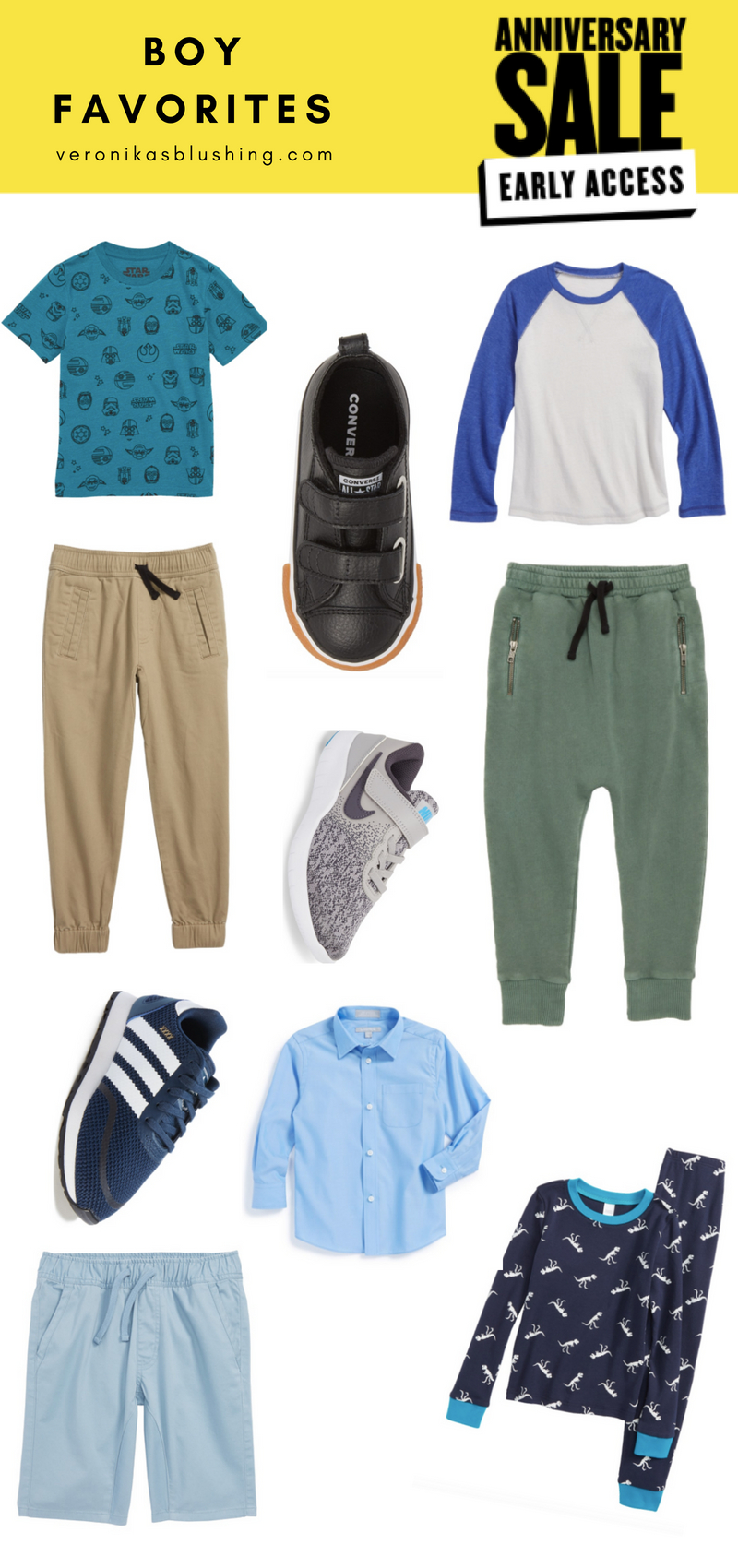 9af0c3ab7e ... woven jogger pants | baseball tee | zip jogger pants | glow in the dark  jammies | blue dress shirt | converse shoes | adidas shoes | nike shoes