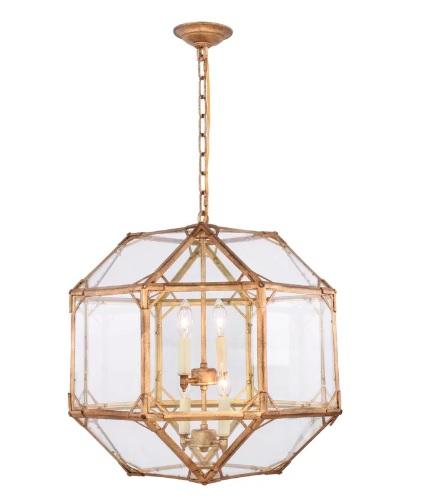 Geometric Brass Chandelier