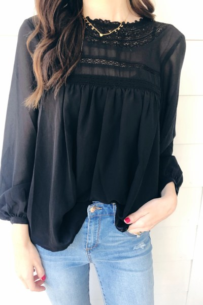 The Jeans + Black Tops You'll Love for Fall