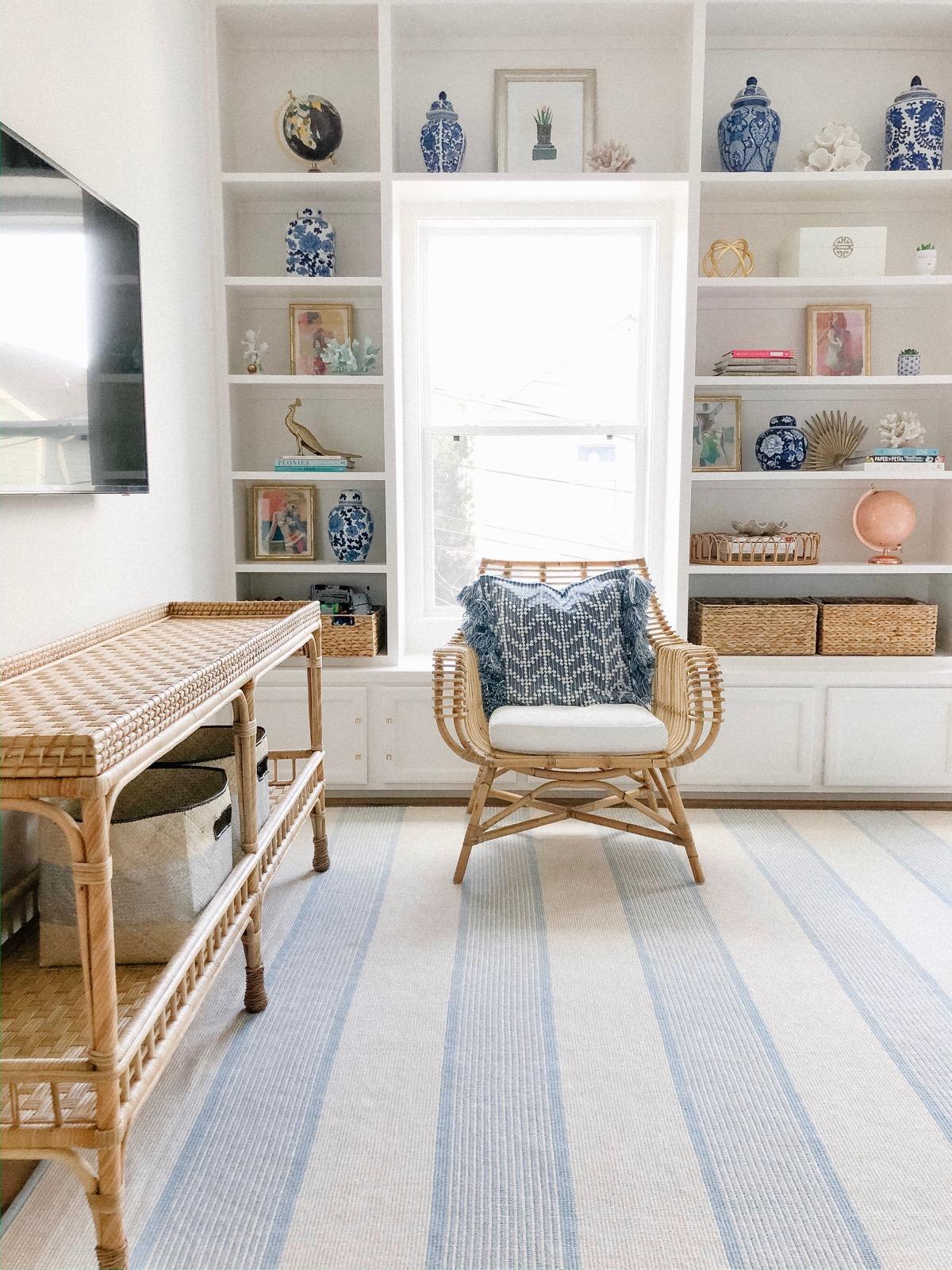 Natural Seating At Home Our Family Room Playroom Veronika S Blushing