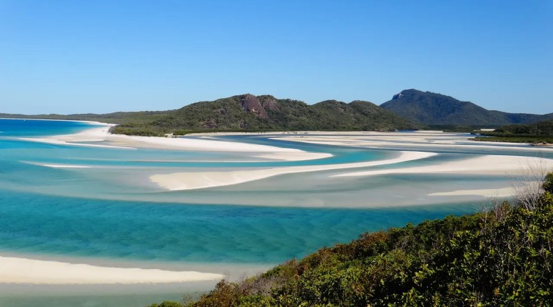 la plage de white haven beach en Australie un endroit paradisiaque