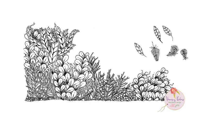 ©Véronique Milioni, La Marque, Les Univers, Le Dessin Méditatif, création dessin au trait fait-main
