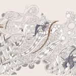 ©Véronique Milioni, Motif Aller voir la Mer Blanc, La Marque, créatrice de papiers-peints, tapisseries & décorations vitrages pour les besoins des architectes et décorateurs d'intérieurs, hôtels et restaurants haut de gamme, boutique de luxe, univers du zen et du développement personnel