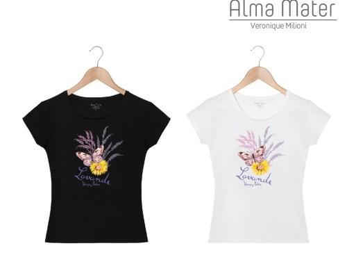 ©Véronique Milioni, Créatrice, Textiles en collaboration avec Alma Mater, Dessins fait-main Nature & Animaux, Lavande