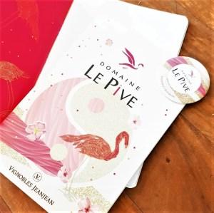©Véronique Milioni, graphisme, création-édition étiquette, menus, signalétique de vin La Pive