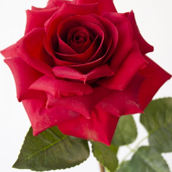 rose artificielle rouge 26 decors