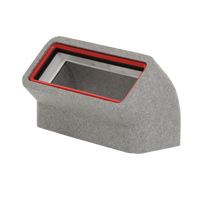 Thermal 204x60mm Rectangular Vertical 45° Bend with Female Click & Lock Fittings