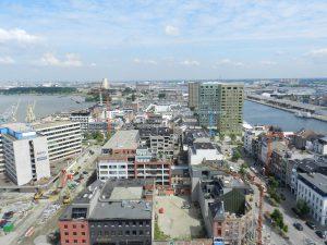 Uitzicht vanaf het panoramadak van het MAS.
