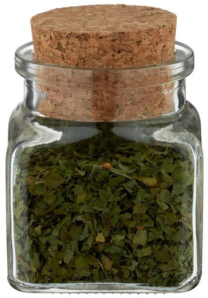 idee de pot a epices quadratus clair 120 ml bouchon de liege inclus