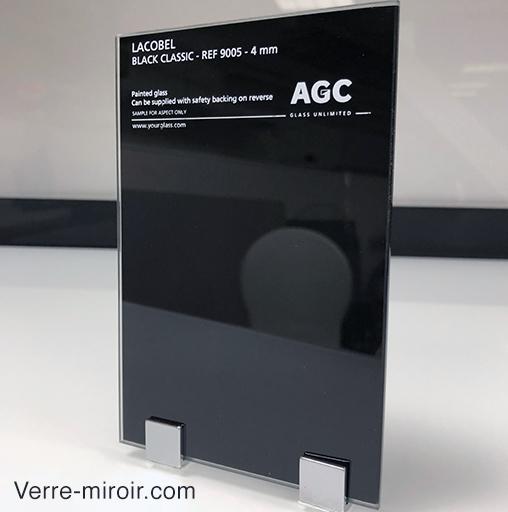 verre lacobel noir sur mesure