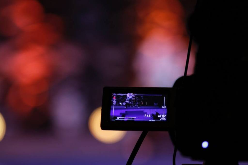 Importance of video marketing - camera filming with blurry background