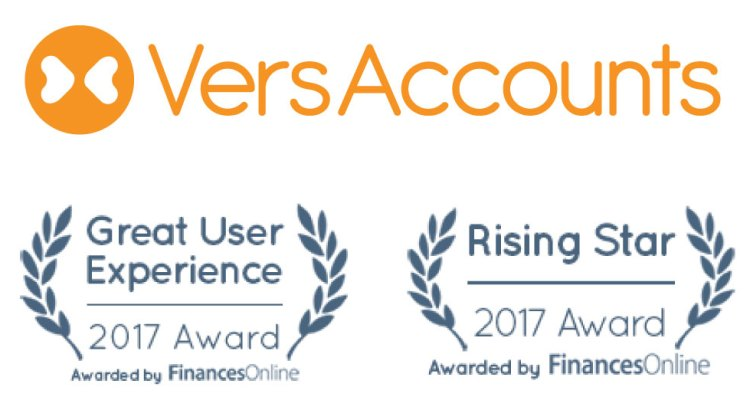VersAccounts Wins Rising Star and Best User Experience Awards from FinancesOnlin