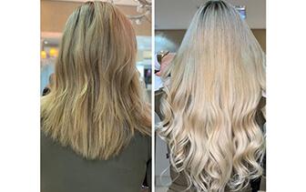 Mechas, coloração e mega hair