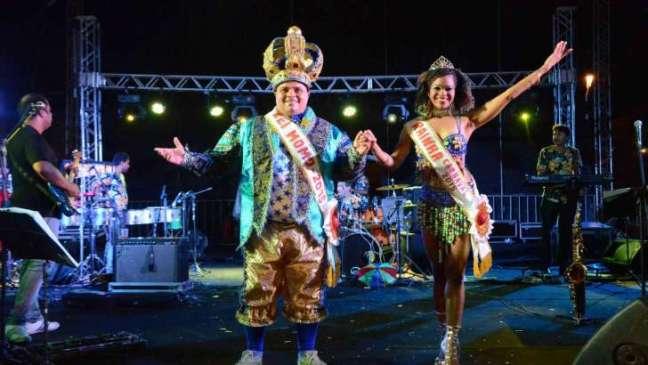 Rubens Carlos e Margoth Lima – rei e rainha do carnaval de Natal 2015