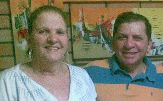 Berta Magalhães e Luiz Almir. Foto: Arquivo Pessoal.
