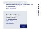 Müller-Michaels, Persönliche Haftung von Vorständen und Aufsichtsräten