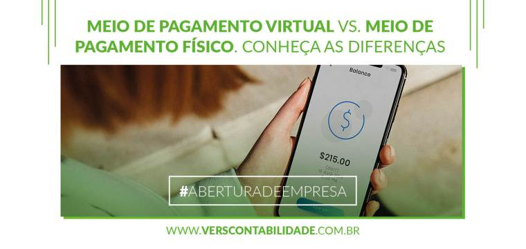 Meio de pagamento virtual vs. meio de pagamento físico. Conheça as diferenças - 390X230px