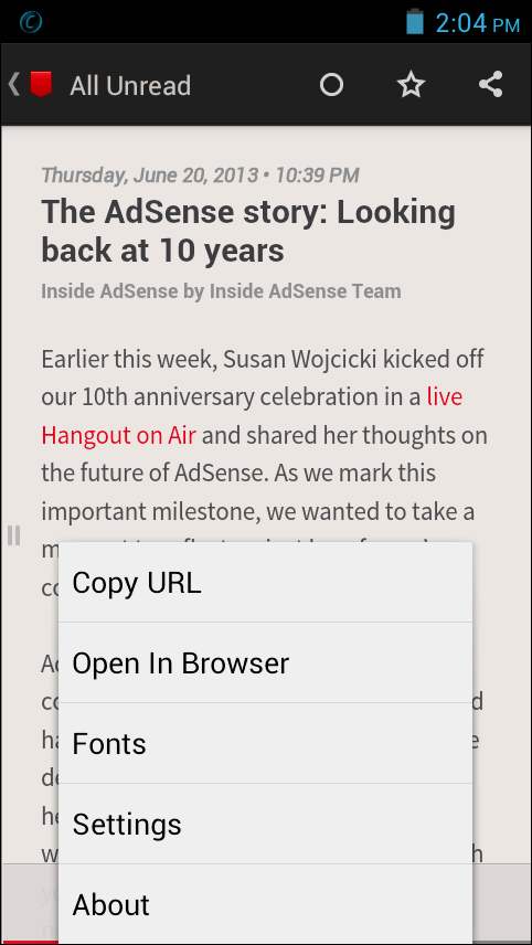Press RSS Reader for Android