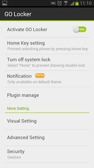 Change Default Android Lock Screen using Go Locker