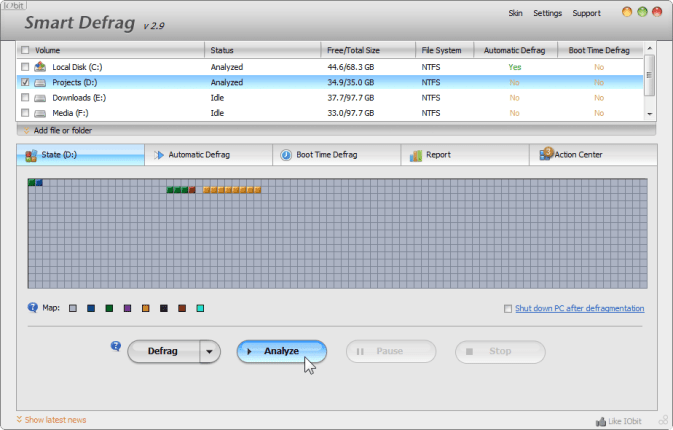 Smart Defrag 2 – Best Free Defragmenter for Windows 7