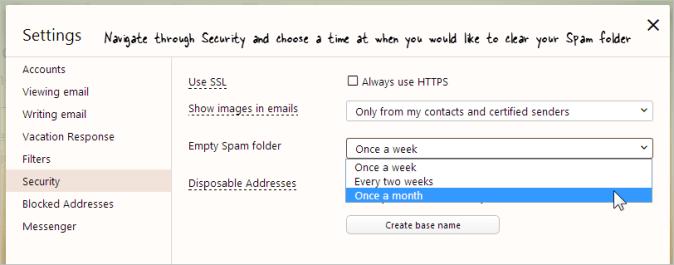 Empty Spam Folder automatically