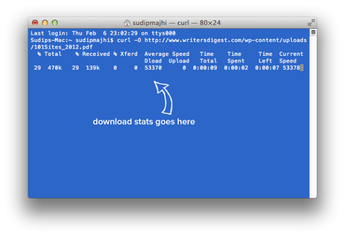 download any file using terminal in Mac