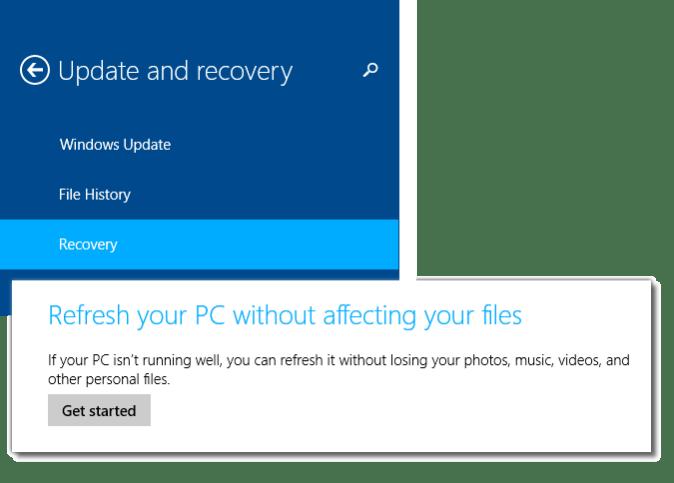 refresh Windows 8