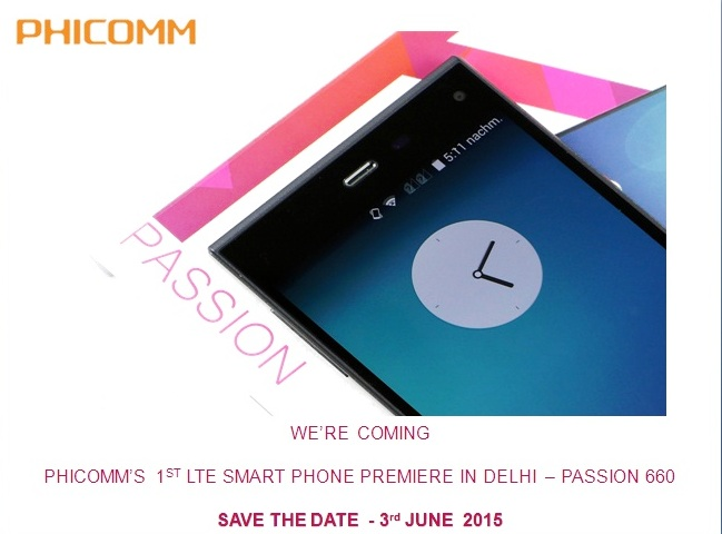 PHICOMM passion 660 launch 3rd june