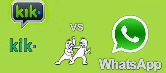 KIK VS WhatsApp Comparison