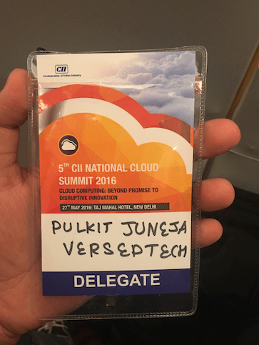 Delegate Badge for 5th CII National Cloud Summit 2016