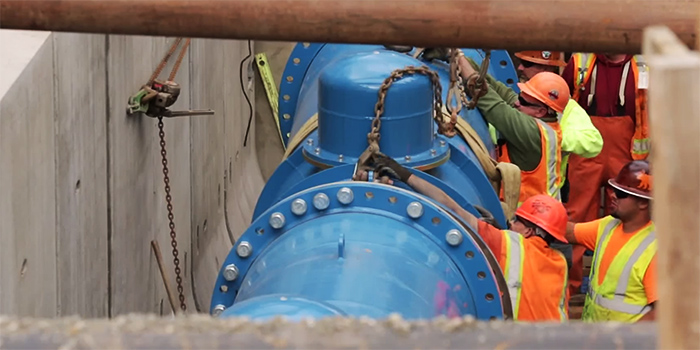 LucidPipe Power System - Generating clean electricity from turbines installed in water pipes