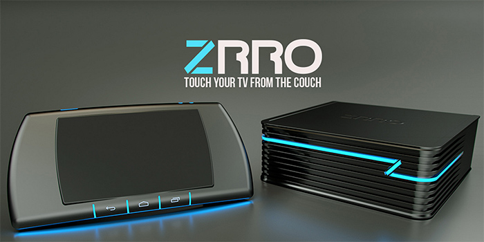 Play Android games on your TV via ZRRO, a touch-enabled and hover-enabled gaming console