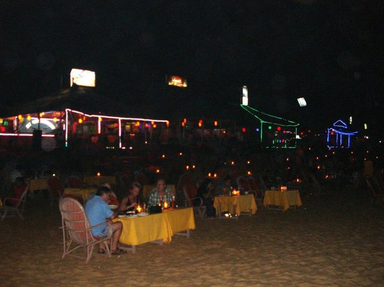 Baga Beach at night