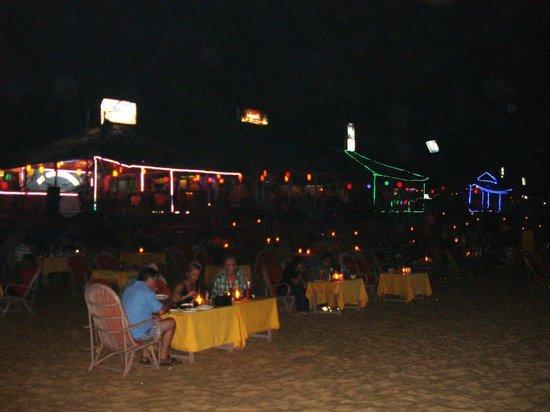 Baga Beach at night