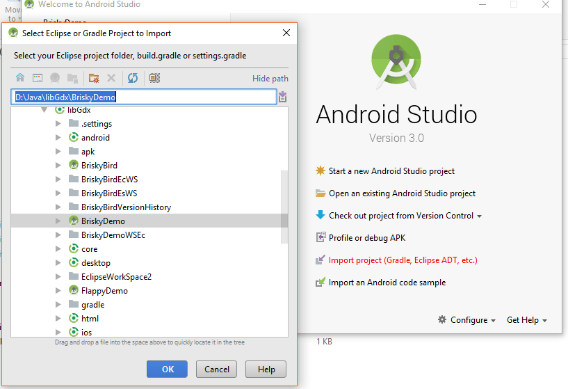 Import Project Android Studio