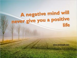 One Liner Quote on Negative Mind