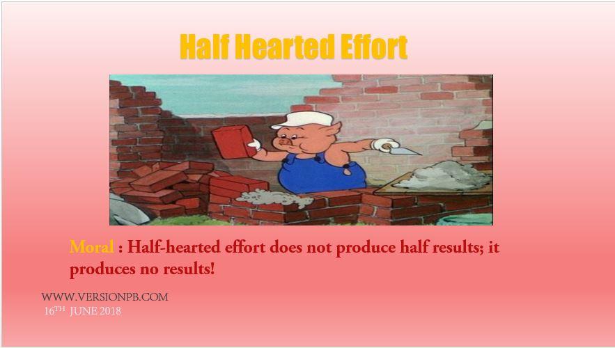 Half Hearted Effort