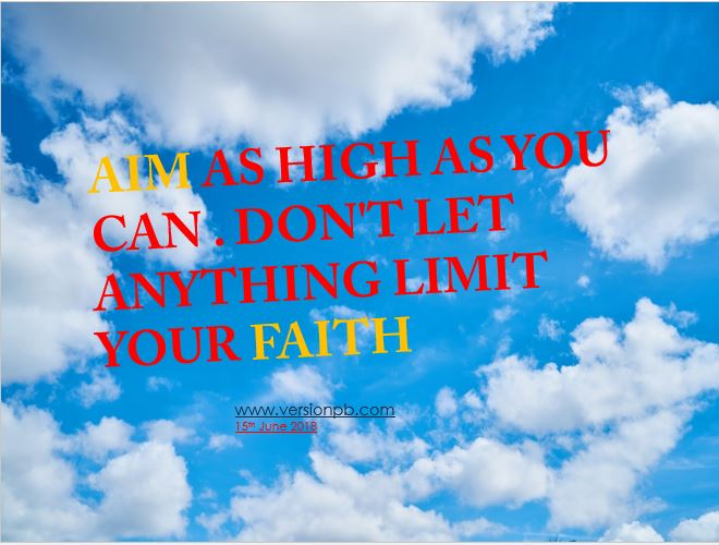 One Liner Quote on Faith