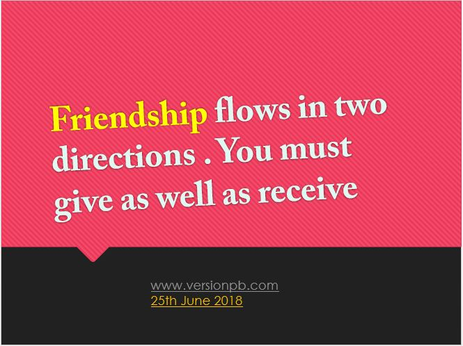 One Liner Quote on Friendship