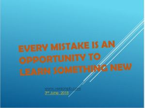 One Liner Quote on Mistakes