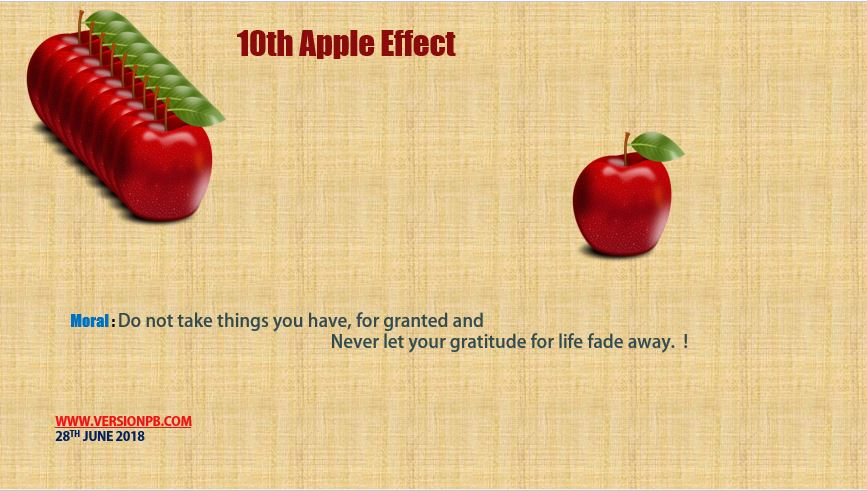 Short Story on 10th Apple Effect